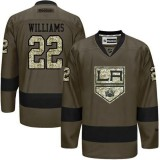 Tiger Williams Green Salute to Service Stitched Jersey - Los Angeles Kings #22 Clothing