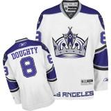 Reebok Los Angeles Kings #8 Drew Doughty White Third Authentic Jersey For Sale Size 48/M|50/L|52/XL|54/XXL|56/XXXL