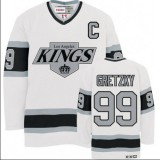 CCM Los Angeles Kings #99 Wayne Gretzky Premier White Throwback Jersey For Sale Size 48/M|50/L|52/XL|54/XXL|56/XXXL