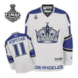 Reebok Los Angeles Kings #11 Anze Kopitar Authentic White Third With 2014 Stanley Cup Finals Jersey For Sale Size 48/M|50/L|52/XL|54/XXL|56/XXXL