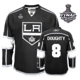 Reebok Los Angeles Kings #8 Drew Doughty Authentic Black Home With 2014 Stanley Cup Finals Jersey For Sale Size 48/M|50/L|52/XL|54/XXL|56/XXXL
