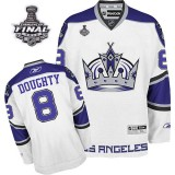 Reebok Los Angeles Kings #8 Drew Doughty White Third Premier With 2014 Stanley Cup Finals Jersey For Sale Size 48/M|50/L|52/XL|54/XXL|56/XXXL