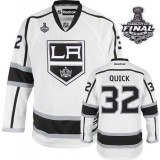 Reebok Los Angeles Kings #32 Jonathan Quick White Road Authentic With 2014 Stanley Cup Finals Jersey  For Sale Size 48/M|50/L|52/XL|54/XXL|56/XXXL