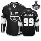 Reebok Los Angeles Kings #99 Wayne Gretzky Black Home Premier With 2014 Stanley Cup Finals Jersey  For Sale Size 48/M|50/L|52/XL|54/XXL|56/XXXL