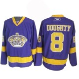 Reebok Los Angeles Kings #8 Drew Doughty Purple Authentic Jersey  For Sale Size 48/M|50/L|52/XL|54/XXL|56/XXXL