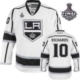 Reebok Los Angeles Kings #10 Mike Richards White Road Premier With 2014 Stanley Cup Jersey  For Sale Size 48/M|50/L|52/XL|54/XXL|56/XXXL