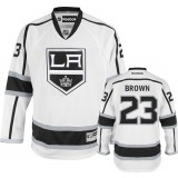 Reebok Los Angeles Kings #23 Dustin Brown White Road Authentic Jersey  For Sale Size 48/M|50/L|52/XL|54/XXL|56/XXXL