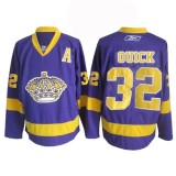 Reebok Los Angeles Kings #32 Jonathan Quick Purple Authentic Jersey  For Sale Size 48/M|50/L|52/XL|54/XXL|56/XXXL