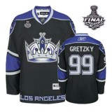 Reebok Los Angeles Kings #99 Wayne Gretzky Black Third Authentic With 2014 Stanley Cup Jersey  For Sale Size 48/M|50/L|52/XL|54/XXL|56/XXXL