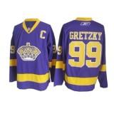 Reebok Los Angeles Kings #99 Wayne Gretzky Purple Premier Jersey