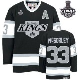 CCM Los Angeles Kings #33 Martin McSorley Authentic Black Throwback With 2014 Stanley Cup Jersey For Sale Size 48/M|50/L|52/XL|54/XXL|56/XXXL
