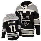 Old Time Hockey Los Angeles Kings #11 Anze Kopitar Black Authentic Sawyer Hooded Sweatshirt Jersey Cheap Online 48|M|50|L|52|XL|54|XXL|56|XXXL