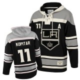 Old Time Hockey Los Angeles Kings #11 Anze Kopitar Black Premier Sawyer Hooded Sweatshirt Jersey Cheap Online 48|M|50|L|52|XL|54|XXL|56|XXXL