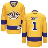 Los Angeles Kings #1 Jhonas Enroth Authentic Gold Third Jersey Cheap Online 48|M|50|L|52|XL|54|XXL|56|XXXL