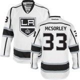 Marty Mcsorley Authentic Away White Jersey - Los Angeles Kings #33 Clothing