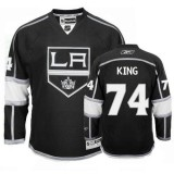 Dwight King Premier Home Black Jersey - Los Angeles Kings #74 Clothing