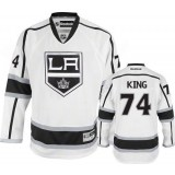 Dwight King Authentic Away White Jersey - Los Angeles Kings #74 Clothing
