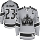 Dustin Brown Authentic Gray 2014 Stadium Series Jersey - Los Angeles Kings #23 Clothing