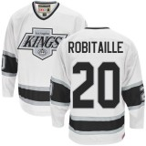 Los Angeles Kings #20 Luc Robitaille Authentic White CCM Throwback Jersey Cheap Online 48|M|50|L|52|XL|54|XXL|56|XXXL