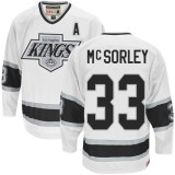 Marty Mcsorley Authentic Throwback White Jersey - CCM LA Kings #33 Clothing