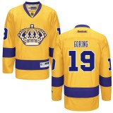 Los Angeles Kings #19 Butch Goring Authentic Gold Third Jersey Cheap Online 48|M|50|L|52|XL|54|XXL|56|XXXL