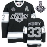 Marty Mcsorley Premier Throwback Black With 2014 Stanley Cup Jersey - CCM LA Kings #33 Clothing