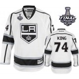 Dwight King Premier Away White With 2014 Stanley Cup Jersey - Los Angeles Kings #74 Clothing