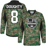 Youth Los Angeles Kings #8 Drew Doughty Camo Authentic Veterans Day Practice Jersey Cheap Online S|M|L|XLLarge