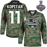 Youth Los Angeles Kings #11 Anze Kopitar Camo Authentic Veterans Day Practice Stanley Cup Jersey Cheap Online S|M|L|XLLarge