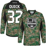 Youth Los Angeles Kings #32 Jonathan Quick Camo Authentic Veterans Day Practice Jersey Cheap Online S|M|L|XLLarge