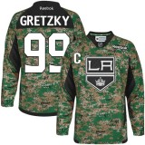 Youth Los Angeles Kings #99 Wayne Gretzky Camo Authentic Veterans Day Practice Jersey Cheap Online S|M|L|XLLarge