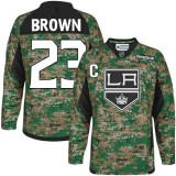 Youth Los Angeles Kings #23 Dustin Brown Camo Premier Veterans Day Practice Jersey Cheap Online S|M|L|XLLarge
