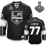 Youth Los Angeles Kings #77 Jeff Carter Authentic Black Home 2014 Stanley Cup Jersey Cheap Online Small/Medium|Large/Extra Large