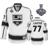 Youth Los Angeles Kings #77 Jeff Carter Premier White Away 2014 Stanley Cup Jersey Cheap Online Small/Medium|Large/Extra Large