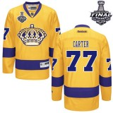 Youth Los Angeles Kings #77 Jeff Carter Authentic Gold Third 2014 Stanley Cup Jersey Cheap Online Small/Medium|Large/Extra Large