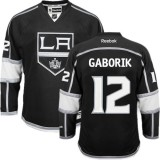 Los Angeles Kings #12 Marian Gaborik Black Authentic Home Jersey Cheap Online 48|M|50|L|52|XL|54|XXL|56|XXXL