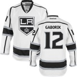 Los Angeles Kings #12 Marian Gaborik White Authentic Away Jersey Cheap Online 48|M|50|L|52|XL|54|XXL|56|XXXL