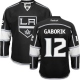 Youth Los Angeles Kings #12 Marian Gaborik Black Authentic Home Jersey Cheap Online S|M|L|XLLarge