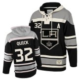 Youth Old Time Hockey Los Angeles Kings #32 Jonathan Quick Black Premier Sawyer Hooded Sweatshirt Jersey Cheap Online S|M|L|XLLarge