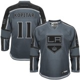 Anze Kopitar Authentic Charcoal Cross Check Fashion Jersey - Los Angeles Kings #11 Clothing