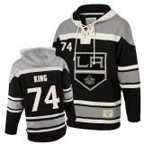 Dwight King Authentic Black Sawyer Hooded Sweatshirt - Old Time Hockey LA Kings #74 Clothing