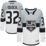 Jonathan Quick Premier Gray White 2015 Stadium Series Jersey - Los Angeles Kings #32 Clothing