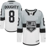 Drew Doughty Premier Gray White 2015 Stadium Series Jersey - Los Angeles Kings #8 Clothing