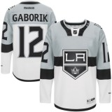 Marian Gaborik Premier Gray White 2015 Stadium Series Jersey - Los Angeles Kings #12 Clothing