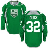 Jonathan Quick Authentic Green Practice Jersey - Los Angeles Kings #32 Clothing