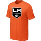 Los Angeles Kings Team Logo Orange T-Shirt Jersey Cheap For Sale