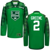Matt Greene GreenSt. Patrick's Day Stitched Jersey - Los Angeles Kings #2 Clothing