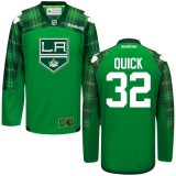 Jonathan Quick GreenSt. Patrick's Day Stitched Jersey - Los Angeles Kings #32 Clothing