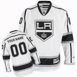 Reebok Los Angeles Kings Customized White Road Authentic Jersey For Sale Size 48/M|50/L|52/XL|54/XXL|56/XXXL