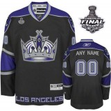 Reebok Los Angeles Kings Customized Black Third Authentic With 2014 Stanley Cup Finals Jersey For Sale Size 48/M|50/L|52/XL|54/XXL|56/XXXL
